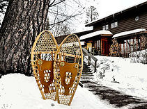 lodge w.snowshoes